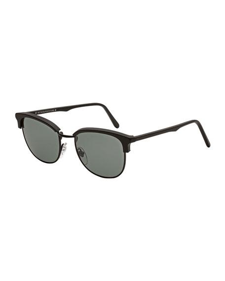 Terrazzo Ganzo Clubmaster Sunglasses, Black
