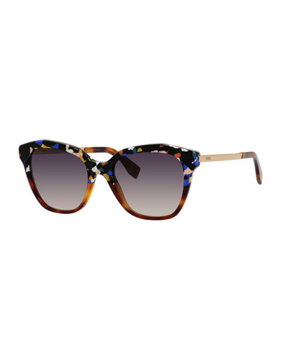 Half-and-Half Acetate Sunglasses