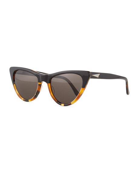 Prism St. Louis Cat-Eye Sunglasses, Tortoise/Black