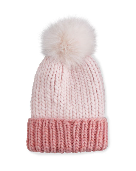 Eugenia Kim Rain Hat with Fur Pom Pom,
