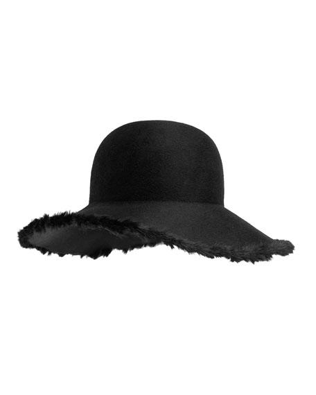Blake Floppy Hat w/Fur Trim