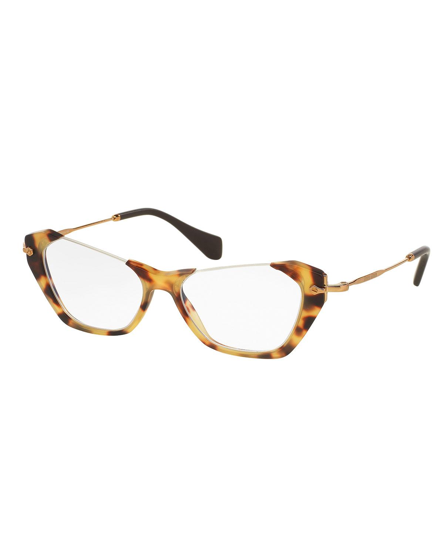 478a83cfb5c5 Miu Miu Cut-Top Cat-Eye Fashion Glasses