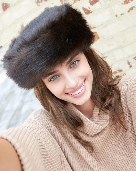 Faux-Fur Stretch Hat