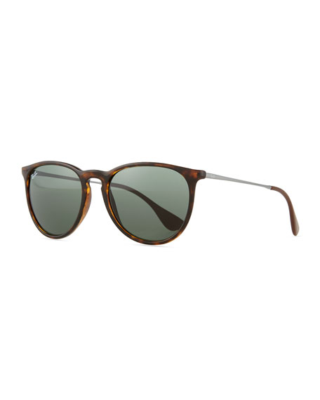 Ray-Ban Erika Metal-Temple Sunglasses, Havana
