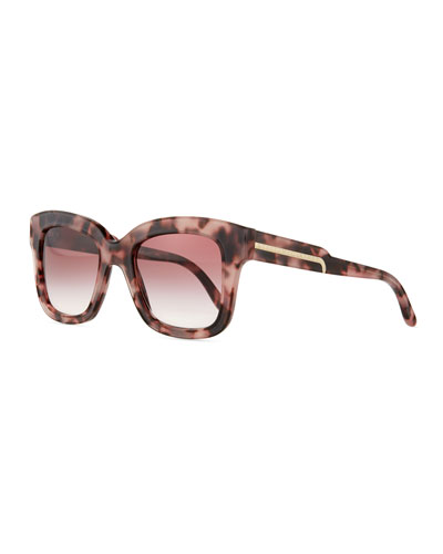 Oversized Havana Square Sunglasses