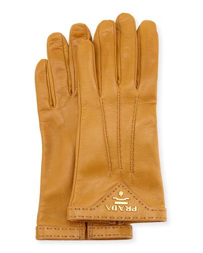 Napa Leather Gloves, Camel