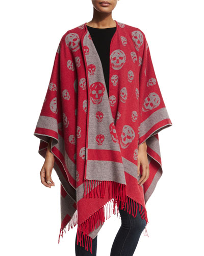 Big Skull Wool-Blend Cape
