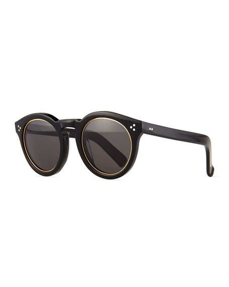 Illesteva Leonard II Ring Sunglasses, Black