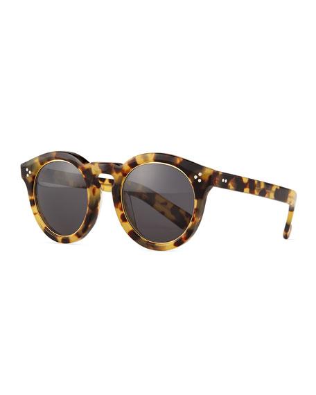 Illesteva Leonard II Ring Sunglasses, Tortoise