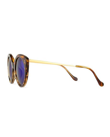 Palm Beach Mirrored Sunglasses, Sand/Violet