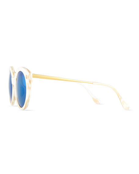 Palm Beach Cat-Eye Sunglasses, Cream