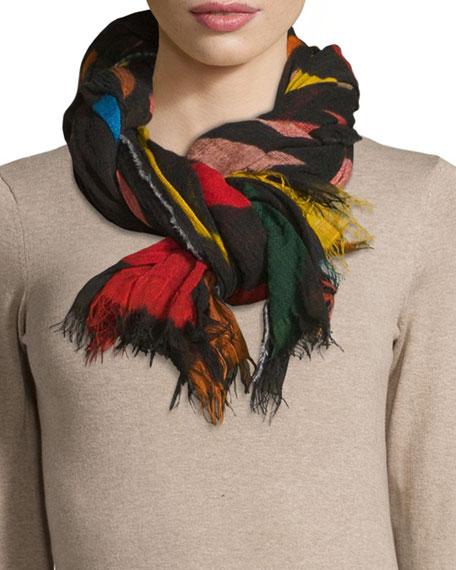 Faliero Sarti Hojas Knit Scarf, Multicolor