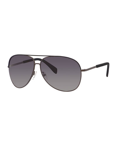 Polarized Aviator Sunglasses, Black
