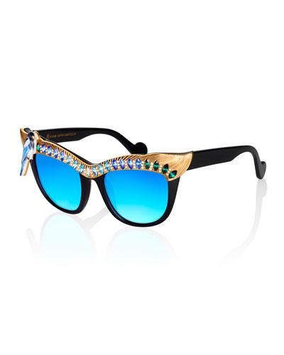 Magpie Cat-Eye Sunglasses