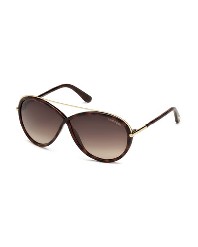 Tamara Brow-Bar Butterfly Sunglasses