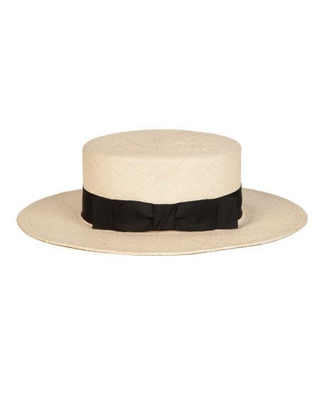 The Gloria Straw Boater Hat