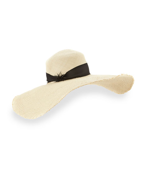 Gigi Burris Breakaway Straw Floppy Hat, Natural