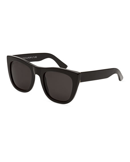 Gals Square Monochromatic Sunglasses, Black