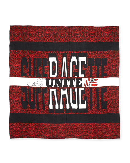 MARC by Marc Jacobs Strawberry Thief Suffragette Square Scarf