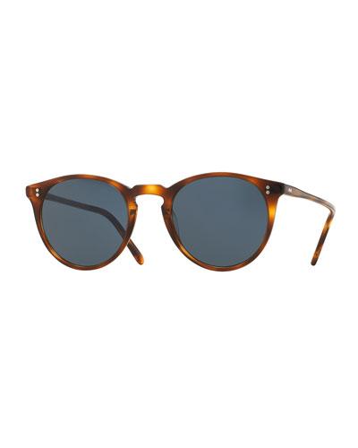 O'Malley NYC Peaked Round Sunglasses, Tortoise