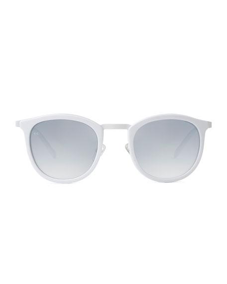 Baja East Shout Square Sunglasses, Baja White