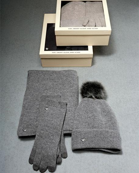 Wool Blend Gloves Beanie Scarf