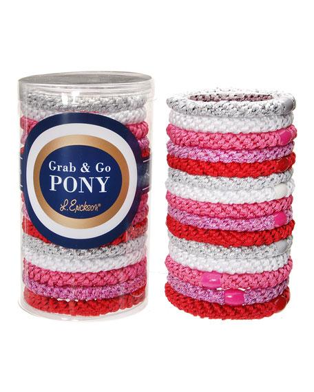Grab & Go Pony Tube of 15 Ponytail Holders