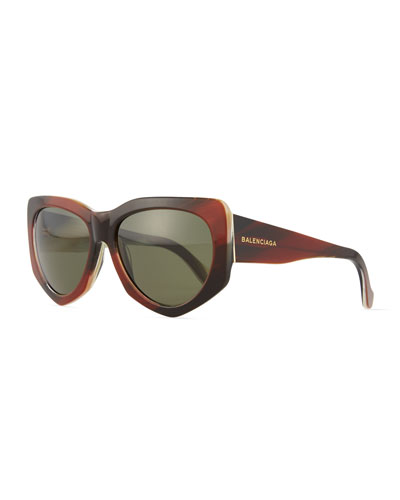 Square Acetate Sunglasses, Brown