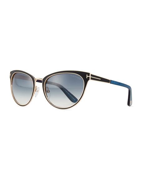 Two-Tone Cat-Eye Sunglasses