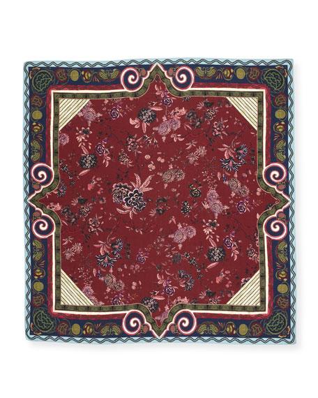 Bombay Silk & Cashmere Printed Square Shawl
