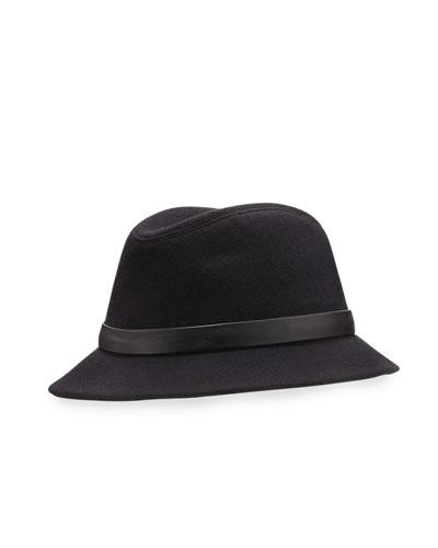 Ingrid Baby Cashmere® Felt Fedora Hat, Black