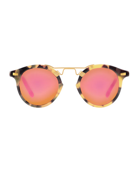 St. Louis Mirrored Round Sunglasses
