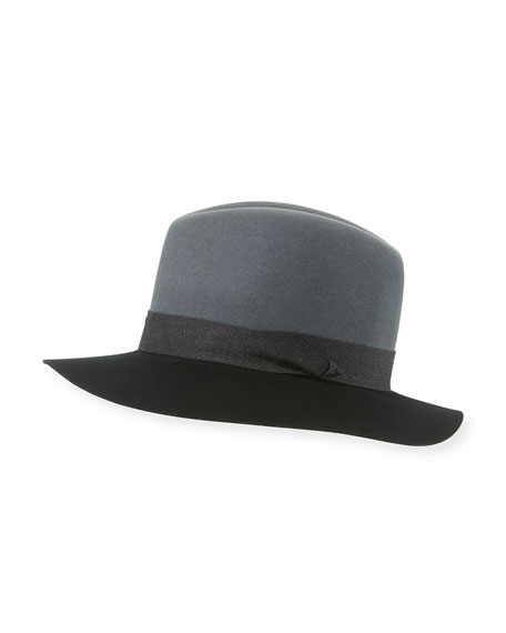 Rag & Bone Floppy Felt Fedora Hat, Graphite