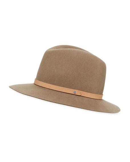 Rag & Bone Floppy-Brim Fedora Hat, Almond