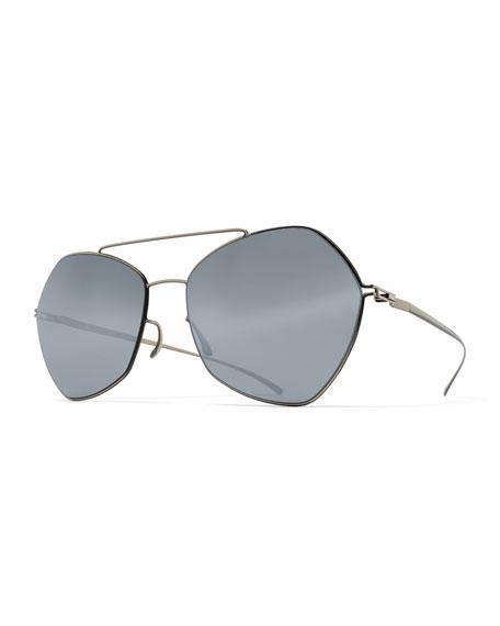 MYKITA + Maison Margiela Esse Geometric Aviator Sunglasses,