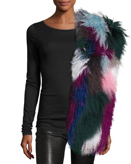 Charlotte Simone Kaleidoscope Fur Cuff Scarf, Multicolor