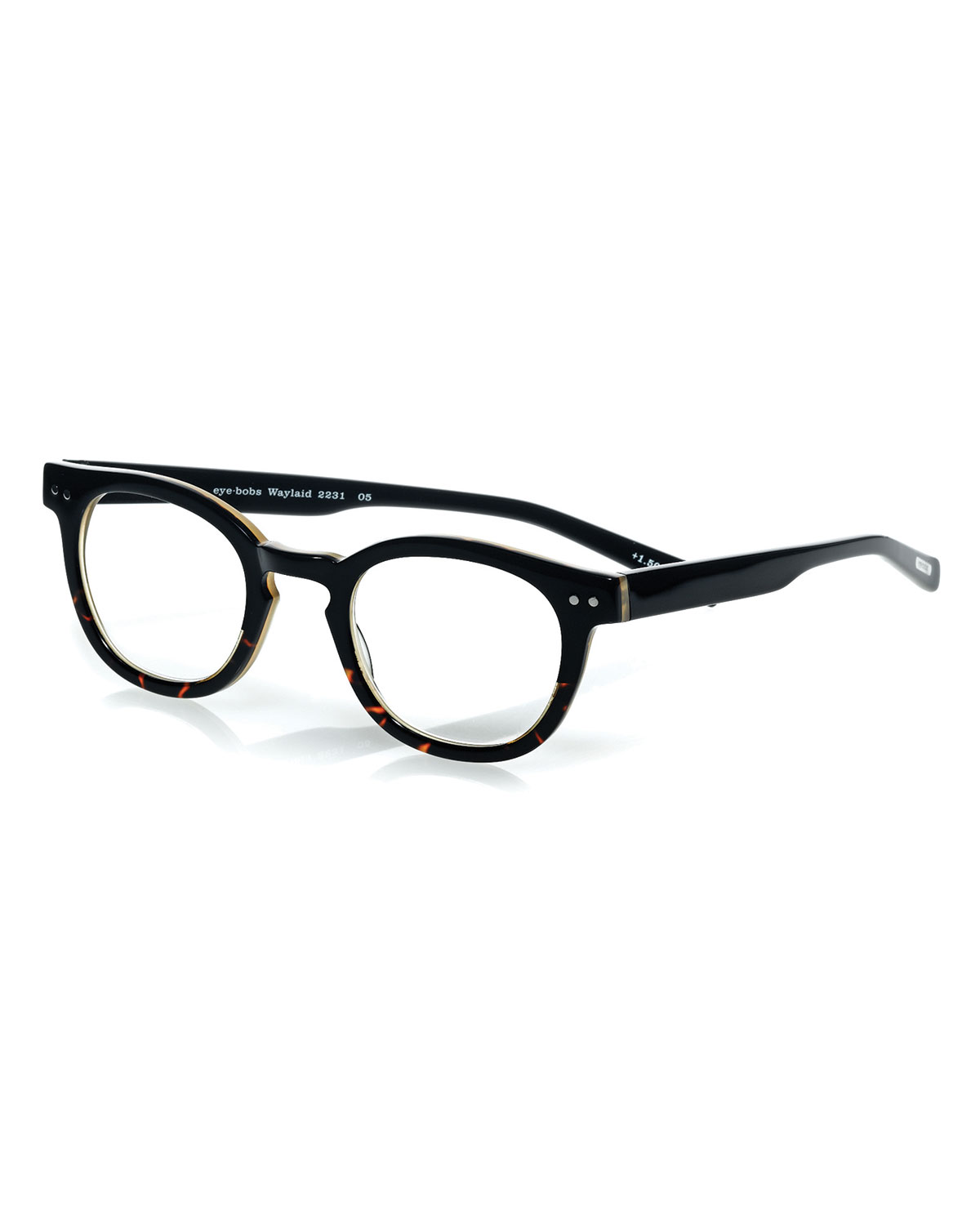 Eyebobs Waylaid Square Readers, Tortoise/Black