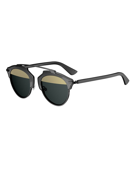 So Real Mirrored Iridescent Sunglasses