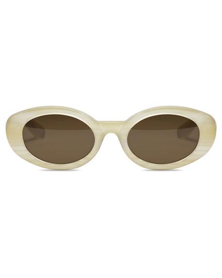 McKinley Oval Acetate Sunglasses