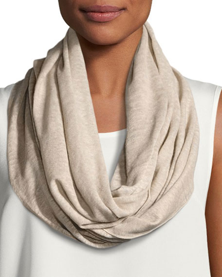 Linen Knit Infinity Scarf