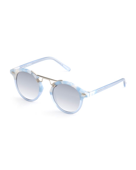 KREWE St. Louis Round Gradient Sunglasses, Blue
