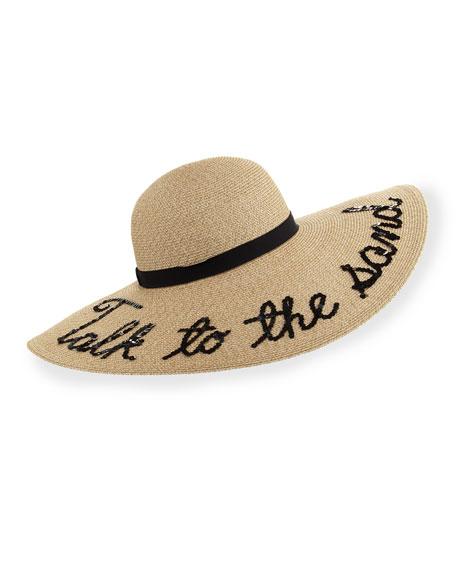 Bunny Hemp-Blend Sun Hat, Sand