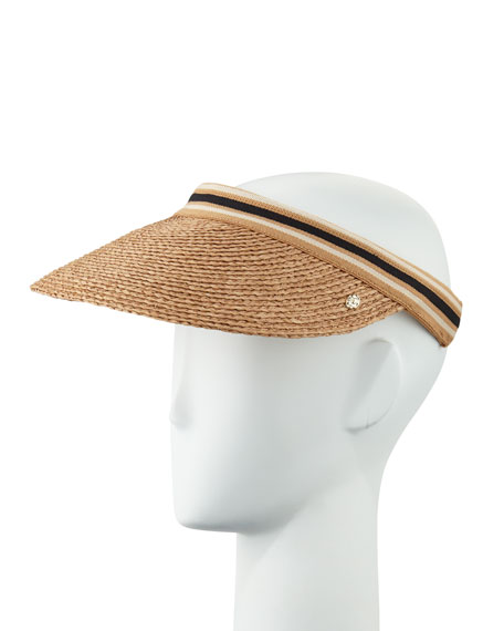 Bianca Classic Slide-On Raffia Visor