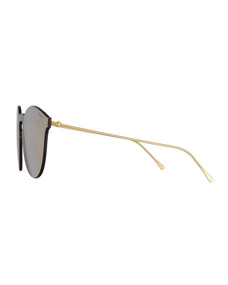 Leonard II Mask Sunglasses, Brown