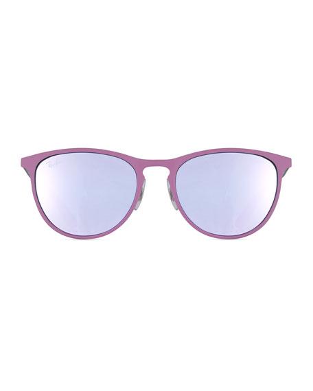 Rounded Square Sunglasses  ray ban junior erika mirrored rounded square sunglasses