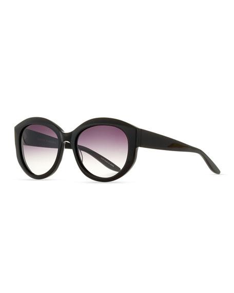 Barton Perreira Patchett Gradient Sunglasses, Black/Smolder