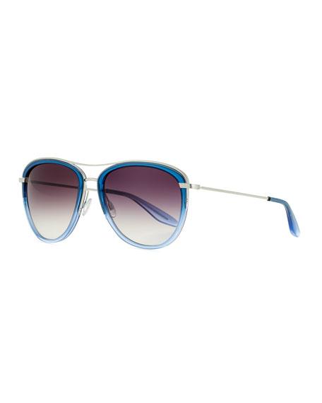 Universal Fit Aviatress Aviator Sunglasses, Smolder/Blue Bayou