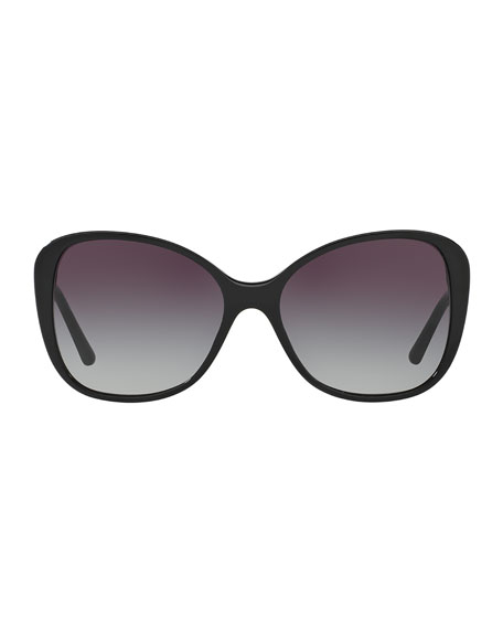 Gradient Check Square Butterfly Sunglasses
