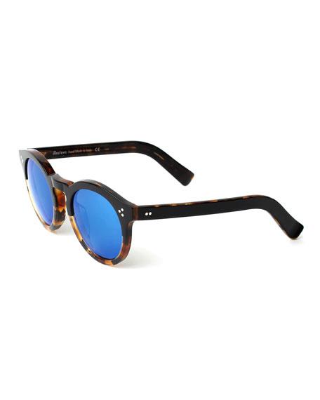 Illesteva Leonard Round Half & Half Sunglasses