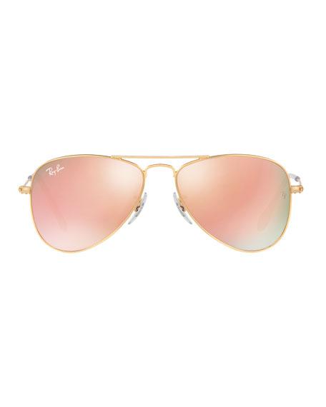 Junior Mirrored Aviator Sunglasses
